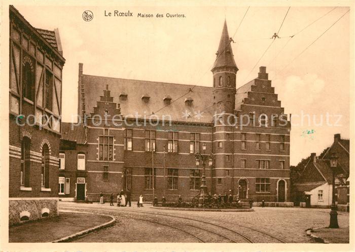 AK / Ansichtskarte Le_Roeulx Maison des Ouvriers