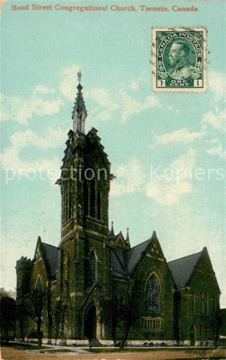 AK / Ansichtskarte Toronto_Canada Bond Street Congregational Church Toronto Canada