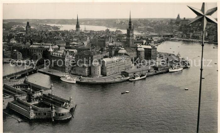 AK / Ansichtskarte Stockholm Fliegeraufnahme Stockholm