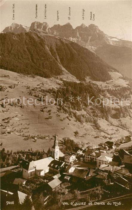 AK / Ansichtskarte Val d_Illiez et Dents du Midi Val d Illiez