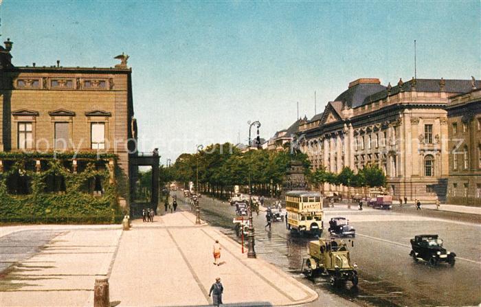 AK / Ansichtskarte Berlin Unter den Linden mit Palais Kaiser Wilhelm und Staatsbibliothek Berlin