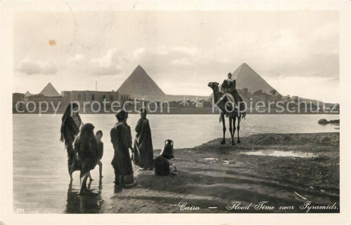 AK / Ansichtskarte Cairo_Egypt Flood Time near Pyramids Cairo Egypt