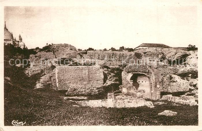 AK / Ansichtskarte Carthage_Karthago Ruines Necropole Punique et Chapelle de la Colline St Louis Carthage Karthago