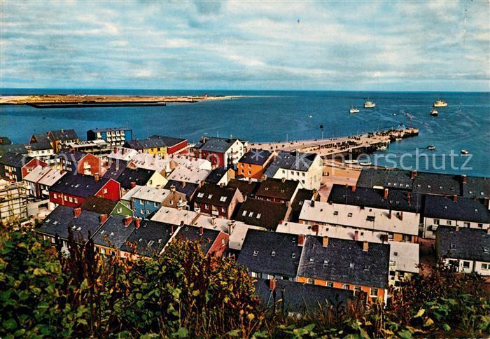 AK / Ansichtskarte Helgoland Unterland und Badeduene Helgoland