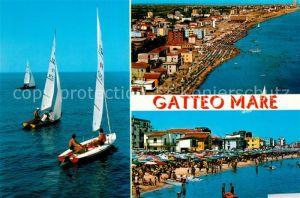 AK / Ansichtskarte Gatteo Mare Segeln Badestrand Fliegeraufnahme Gatteo Mare