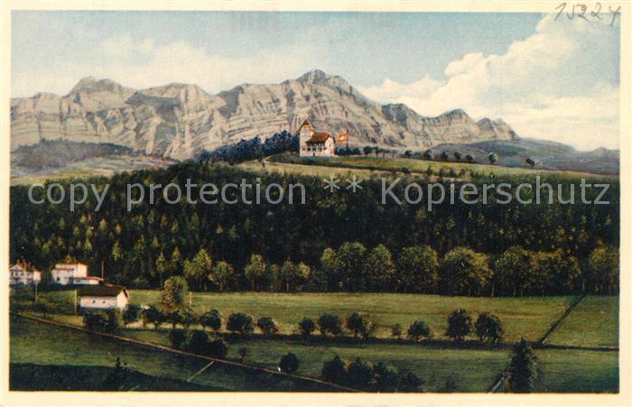 AK / Ansichtskarte St_Gallen_SG Freudenberg Saentiskette St_Gallen_SG