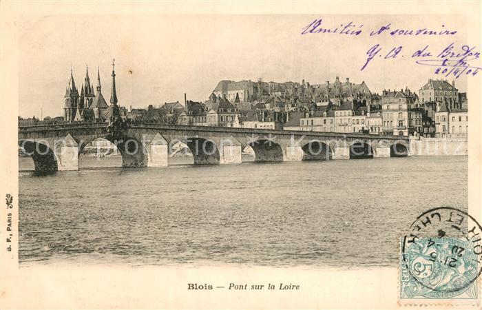 AK / Ansichtskarte Blois_Loir_et_Cher Pont sur la Loire Blois_Loir_et_Cher