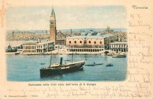 AK / Ansichtskarte Venezia_Venedig Panorama della Citta visto dall Isola di San Giorgio Venezia Venedig
