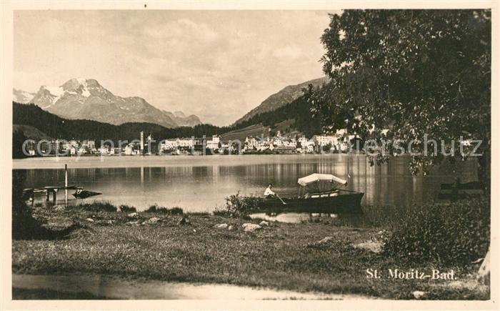 AK / Ansichtskarte St_Moritz_Bad_GR Panorama St_Moritz_Bad_GR