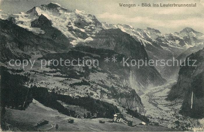 AK / Ansichtskarte Wengen_BE Blick ins Lauterbrunnental Wengen_BE