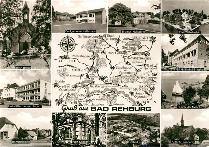 AK / Ansichtskarte Bad_Rehburg Dorfgemeinschaftshaus Victoria Luise Stiftung Bahnhofstrasse  Bad_Rehburg