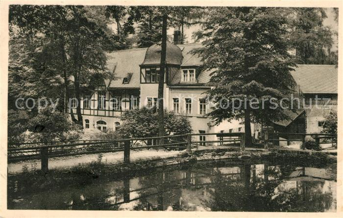 AK / Ansichtskarte Pillnitz Meixmuehle mit Karpfenteich im Friedrichsgrund Pillnitz