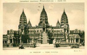 AK / Ansichtskarte Paris Exposition Coloniale Internationale Angkor Vat Facade Principale Paris