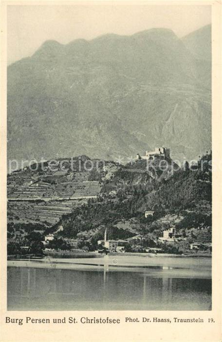 AK / Ansichtskarte Trient_Trento Burg Persen und St Christofsee Trient Trento