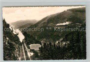 AK / Ansichtskarte Hoellental Schwarzwaldbahn Eingang in den Haldentunnel Seelenwandkurve Hoellental