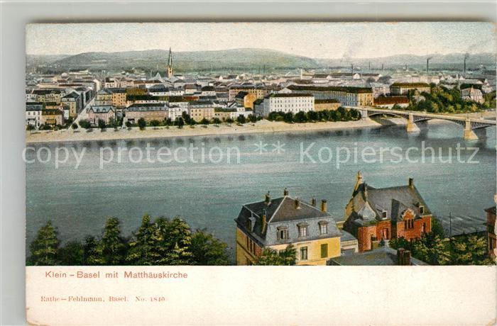 AK / Ansichtskarte Basel_BS Panorama mit Matthaeuskirche Basel_BS