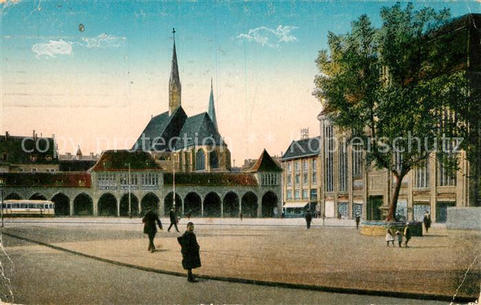 AK / Ansichtskarte Dortmund Hansaplatz und Probsteikirche Dortmund 0