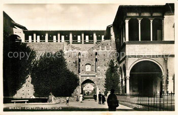 AK / Ansichtskarte Milano Castello Sforzesco Milano