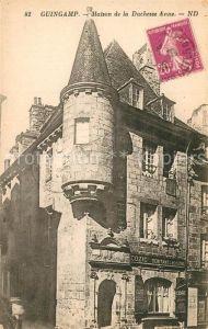 AK / Ansichtskarte Guingamp Maison de la Duchesse Anne Guingamp