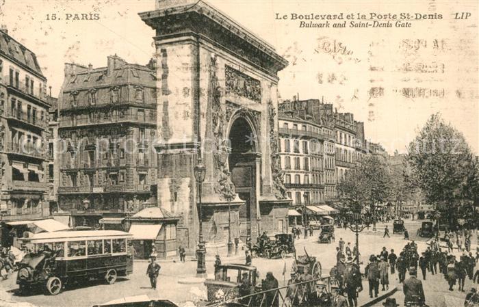 AK / Ansichtskarte Paris Boulevard et la Porte Saint Denis Paris