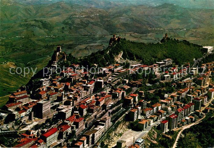 AK / Ansichtskarte San_Marino_Repubblica Fliegeraufnahme San_Marino_Repubblica