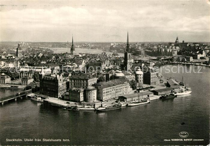 AK / Ansichtskarte Stockholm Utsikt fran Stadshusets torn Stockholm