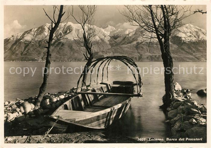 AK / Ansichtskarte Locarno_Lago_Maggiore Barca dei Pescatori Locarno_Lago_Maggiore