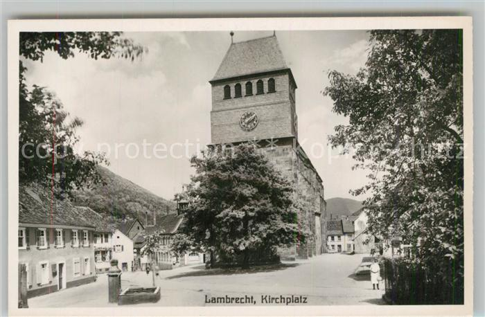 AK / Ansichtskarte Lambrecht Kirchplatz Lambrecht