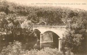 AK / Ansichtskarte Arcy sur Cure_Yonne Pont du Chemin EDSA Arcy sur Cure Yonne