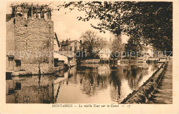 AK / Ansichtskarte Montargis_Loiret Tour sur le Canal Montargis Loiret