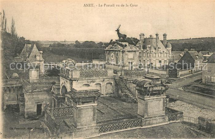AK / Ansichtskarte Anet Portail vu de Cour Anet