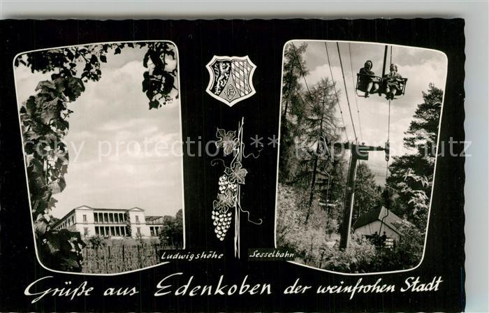 AK / Ansichtskarte Edenkoben Ludwigshoehe Sesselbahn Edenkoben