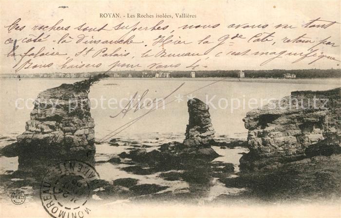 AK / Ansichtskarte Royan_Charente Maritime Les Roches isolees Vallieres Royan Charente Maritime