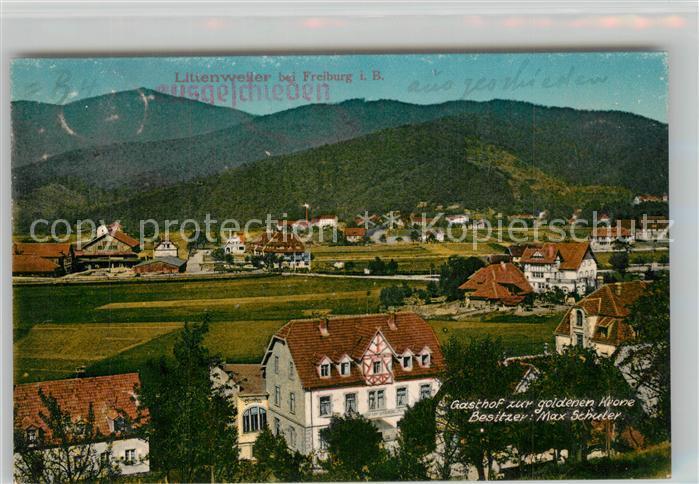 AK / Ansichtskarte Littenweiler Gasthof zur goldenen Krone Littenweiler