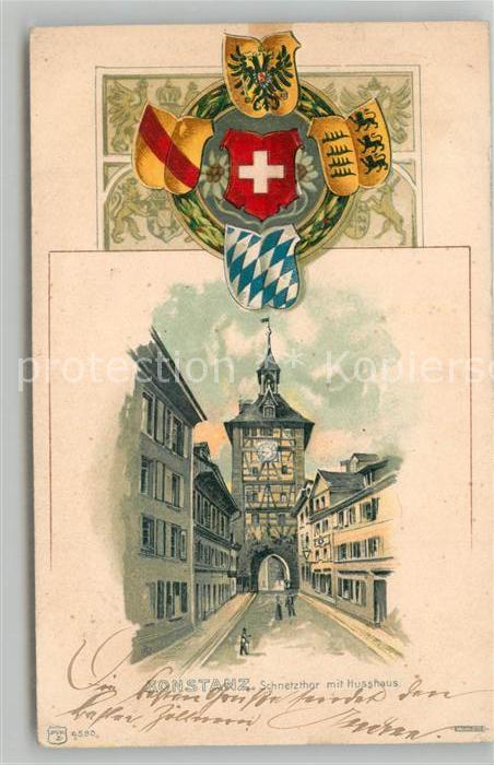 AK / Ansichtskarte Konstanz_Bodensee Schnetzthor mit Husshaus Konstanz_Bodensee