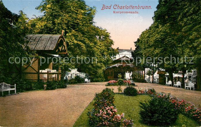 AK / Ansichtskarte Bad_Charlottenbrunn Kurpromenade Bad_Charlottenbrunn