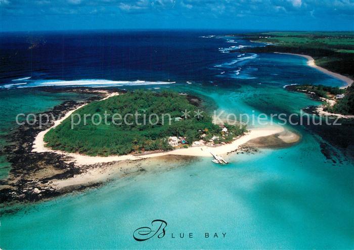 AK / Ansichtskarte Mauritius Blue Bay aerial view Mauritius