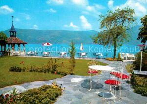 AK / Ansichtskarte Immensee Seehotel Rigi Terrasse am Zugersee Immensee