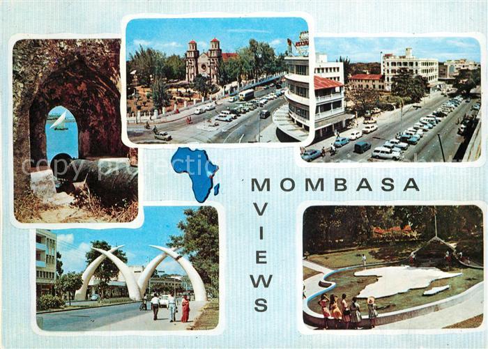 AK / Ansichtskarte Mombasa Stadtansichten Kanone Mombasa