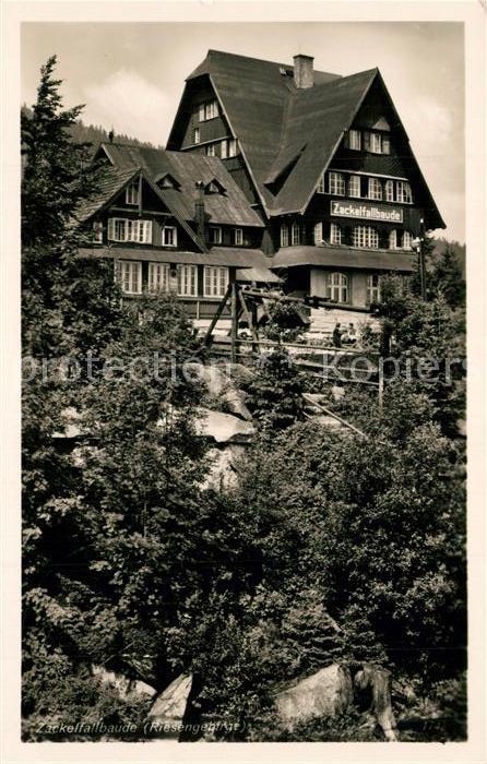 AK / Ansichtskarte Ober Schreiberhau Zackelfallbaude Ober Schreiberhau