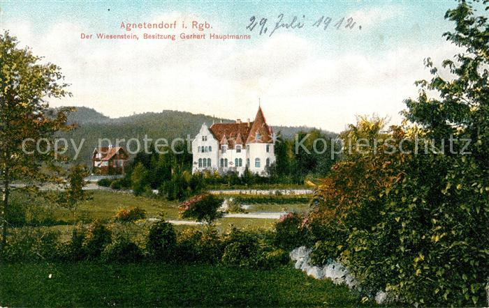 AK / Ansichtskarte Agnetendorf_Riesengebirge Haus Gerhart Hauptmann Agnetendorf Riesengebirge