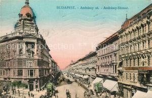 AK / Ansichtskarte Budapest Andrassy Strasse Budapest