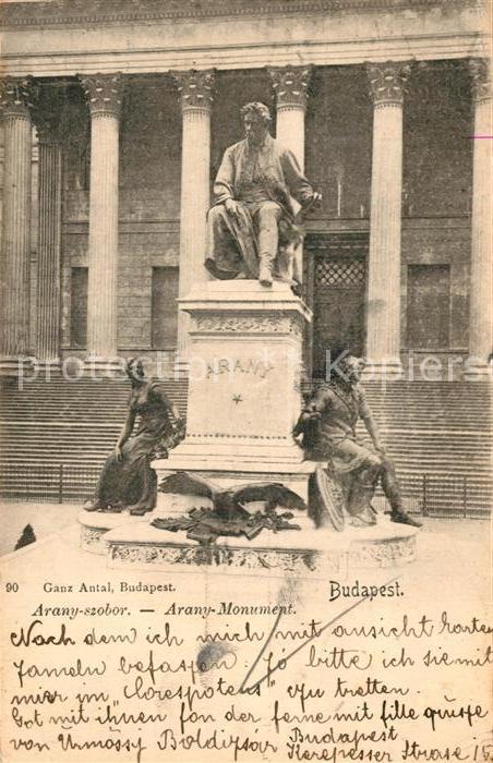 AK / Ansichtskarte Budapest Denkmal Arany Budapest