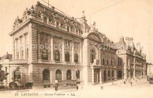 AK / Ansichtskarte Lausanne_VD Banque Vaudoise Lausanne VD