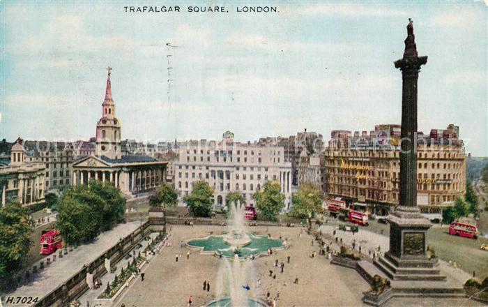 AK / Ansichtskarte London Trafalgar Square London