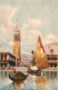 AK / Ansichtskarte Venezia_Venedig Piazzetta San Marco dalla Laguna Venezia Venedig