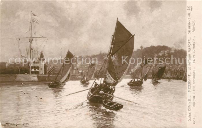 AK / Ansichtskarte Verlag_Noyer_(AN Paris)_Nr. 2641 M. Courant Le Retour au Port  Verlag_Noyer