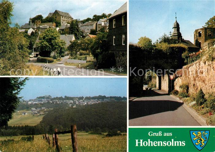 AK / Ansichtskarte Hohensolms Schloss Panorama Ruine Hohensolms