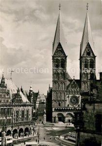 AK / Ansichtskarte Bremen Marktplatz Dom Rathaus Bremen