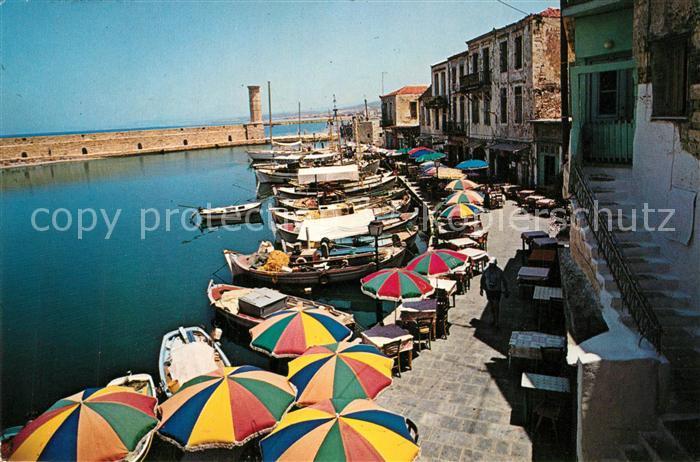 AK / Ansichtskarte Rethimno Alter Hafen Rethimno